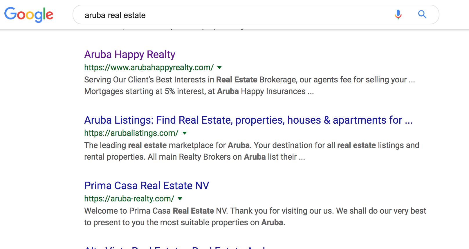 Aruba Real Estate